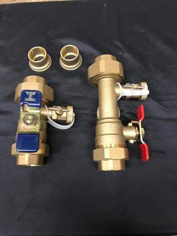"Watts 0100135 1"" Tankless Water Heater Valve Set TWH-UTS-HCN"