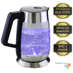 Ovente 1.8L Electric Glass Tea Kettle Temperature Control BP