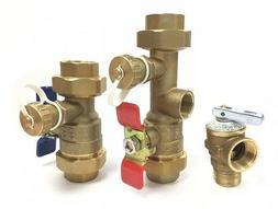 """1"""" Tankless Water Heater Isolation Valve Kit - Navien Bosch"""