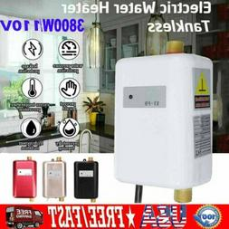 110V 3800W Electric Tankless Instant Hot Water Heater Shower