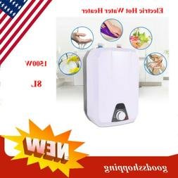 1500w 8L Tankless Instant Electric Hot Water Heater Set Bath