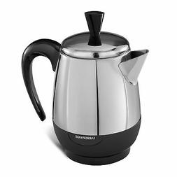 2 to 4 Cup Percolator Stainless Steel Electric Coffee Pot Au