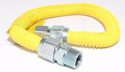 "3/4"" ID  x 36"" Tankless Water Heater Gas Flex Line Yellow Po"