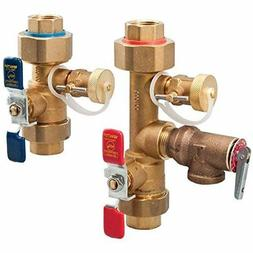 Watts 3/4 LFTWH-UT-HC-RV Tankless Water Heater Valve Set wit