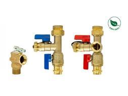 3/4'' Tankless Water Heater Isolation Valve Kit, Lead Free P