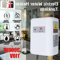 3000W Tankless Instant Electric Hot Water Heater Kitchen Bat