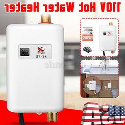 3800W 110V Instant Electric Tankless Hot Water Heater Shower
