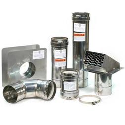 "4"" Horizontal Stainless Steel Z-Vent Water Heater Vent Kit"