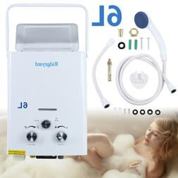 6L Portable Tankless Hot Water Heater Propane Gas LPG 1.6 GP