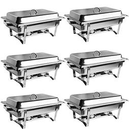Olymstore 6 Pack 8 Quart Chafing Dish,Stainless Steel Cateri