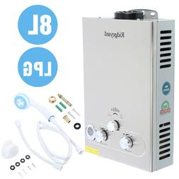 8L 2GPM Tankless Hot Water Heater Instant Boiler Propane Gas