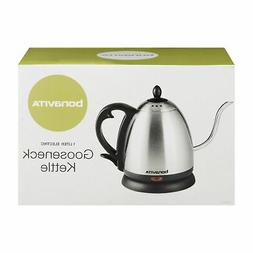 Bonavita 1.0L Electric Kettle Featuring Gooseneck Spout, BV3