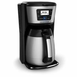 BLACK+DECKER 12-Cup Thermal Coffeemaker, Black/Silver, CM203