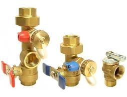 Rinnai - Tankless Water Heater Isolation Valves Kit With Rel