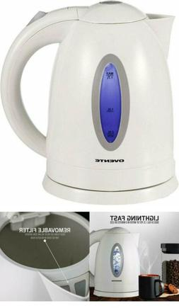 Ovente BPA-Free Electric Kettle 1.7 Liter with Auto Shut-Off