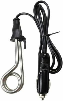 Ovente CH112 12V Portable Travel Car Immersion Heater, Black