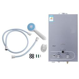 Happybuy 12L CNG Outdoor Portable Propane Tankless Water Hea