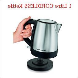 Cordless 1L Electric Kettle Stainless Kitchen Pot Tea Boiler