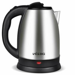 Dezin Electric Kettle Water Heater, 2L Stainless Steel Cordl