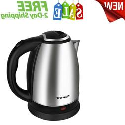 Electric Kettle Water Heater Boiler Stainless Steel Cordless