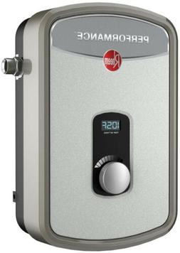 Electric Tankless Water Heater Gray Self Modulating Wall Mou