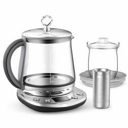 Electric Tea Kattle 1.5 Litter Glass Cordless Stainless Stee