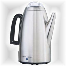 12 Cup Coffee Percolator Filter Basket Electric Water Heater