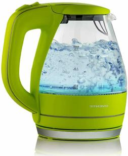 Glass Electric Kettle Ovente 1.5l Bpa Free Tea Round  Water