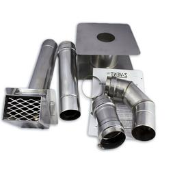 """3"""" Horizontal Stainless Steel Z-Vent Water Heater Vent Kit"""