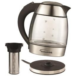 Kettle Electric Glass Cordless Tea Water  Hot Free Boiler He