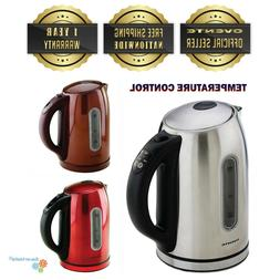 Ovente 1.7L Cordless Electric Kettle Auto Shut Off BPA Free