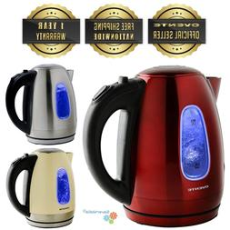 Ovente 1.7 Liter Cordless Electric Kettle Stainless Steel BP