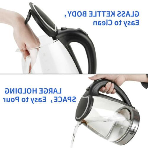 1.8L Electric Glass 1500W Boiling Steel Hot