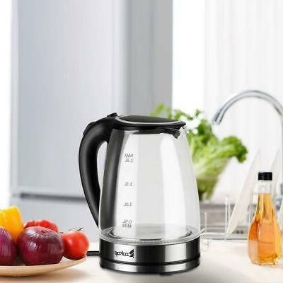 1 8l electric glass kettle 1500w fast
