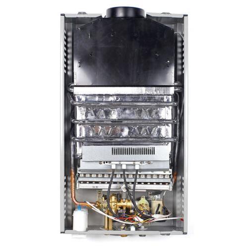 8L Gas Tankless Instant Water Heater Boiler Propane Steel Panel Head