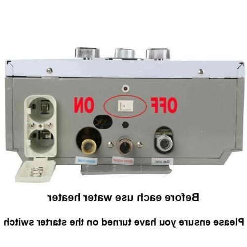 8L Gas Tankless Water LPG Propane Steel Panel Head