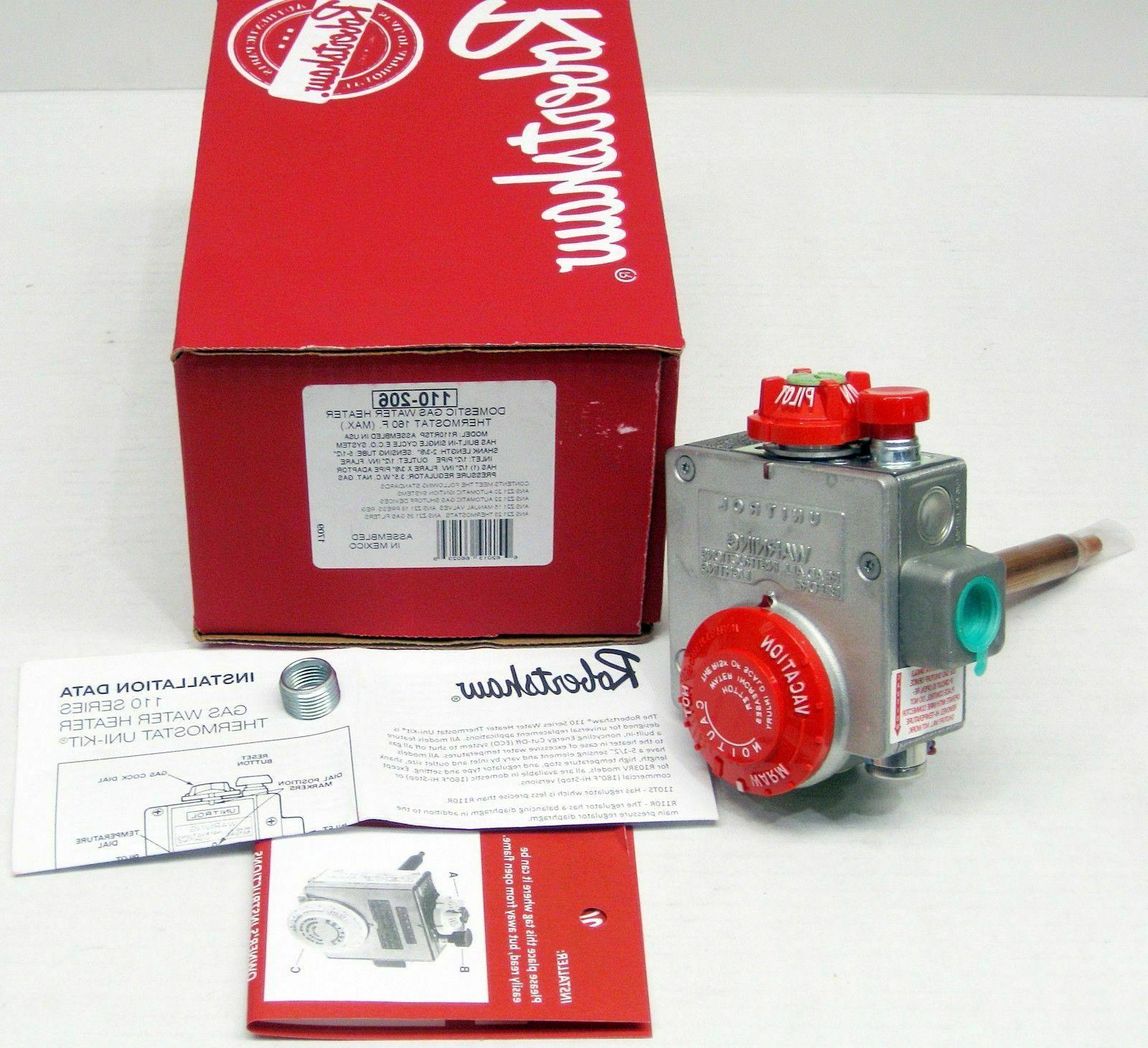 110 206 gas water heater thermostat valve