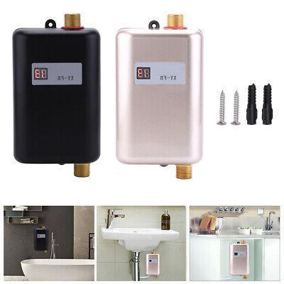110/220V Mini Instant Tankless Shower Kitchen Bathroom