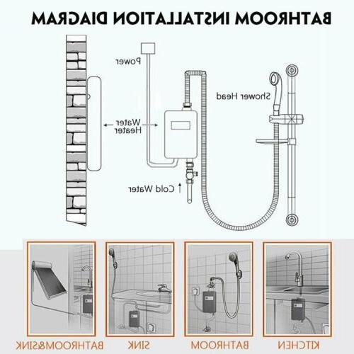 110V 3800W Instant Hot Shower Tap