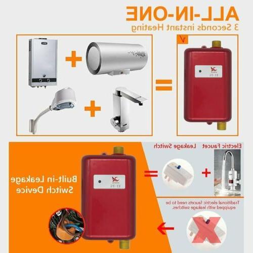 110V Tankless Instant Hot Shower Kitchen Tap