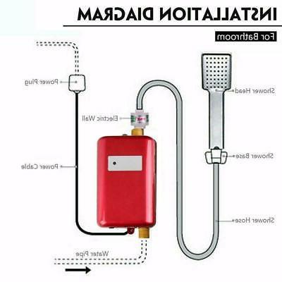 3000W Electric Hot Kitchen Bathroom Shower