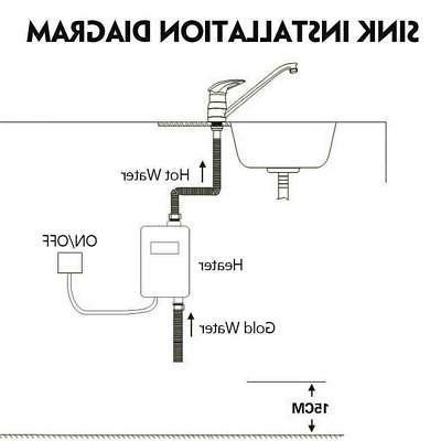3000W Hot Kitchen Bathroom Shower