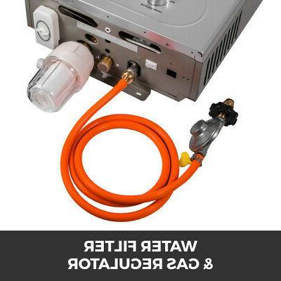 18L Upgrade Propane Gas 4.8 GPM Boiler Shower