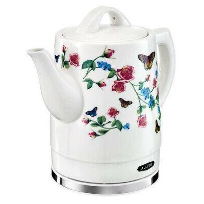 Bella Electric Ceramic Coffee Kettle Heater, Liter or 6