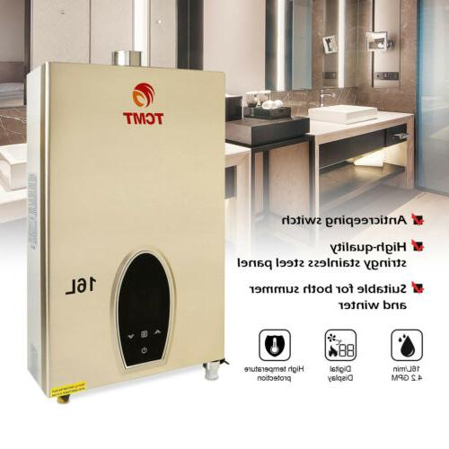 16l natural gas tankless hot water heater