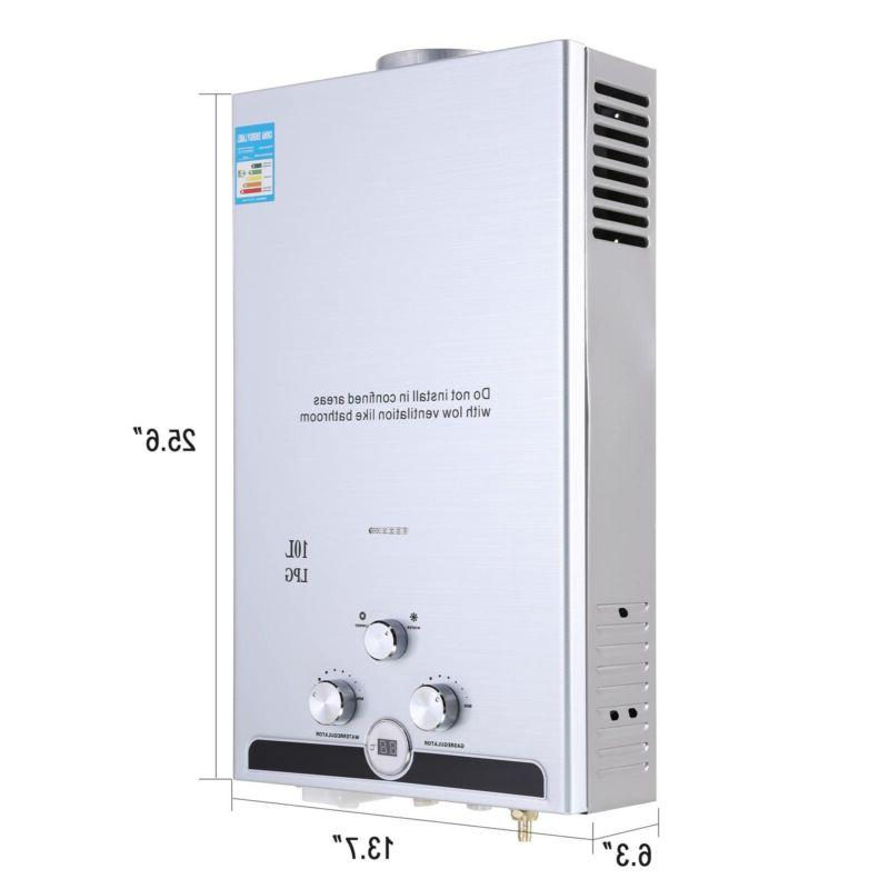 18L Hot Water Propane Instant Boiler Stainless