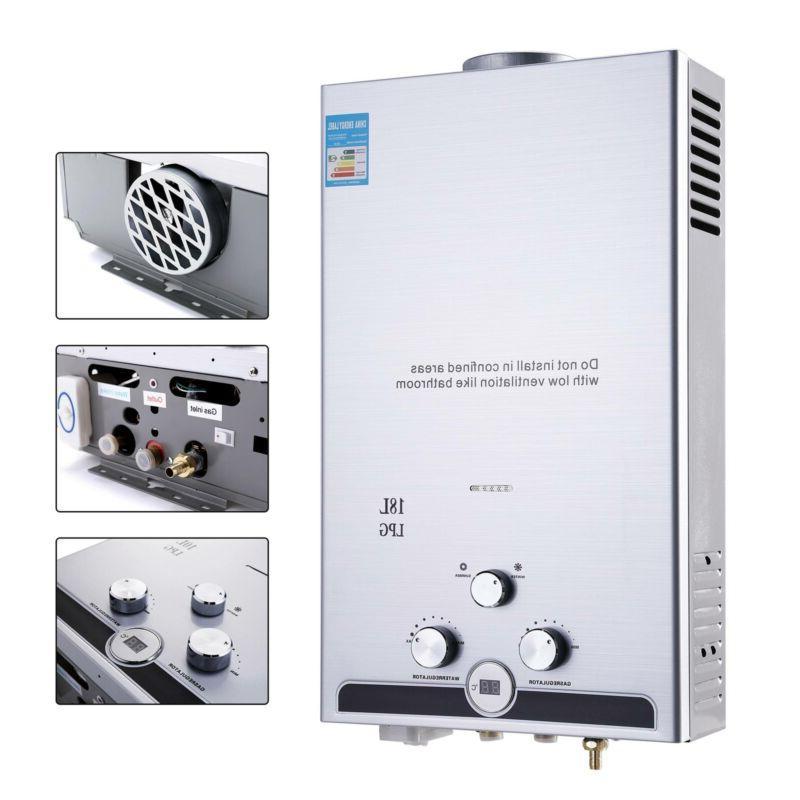 18L Hot Propane Tankless Boiler Stainless
