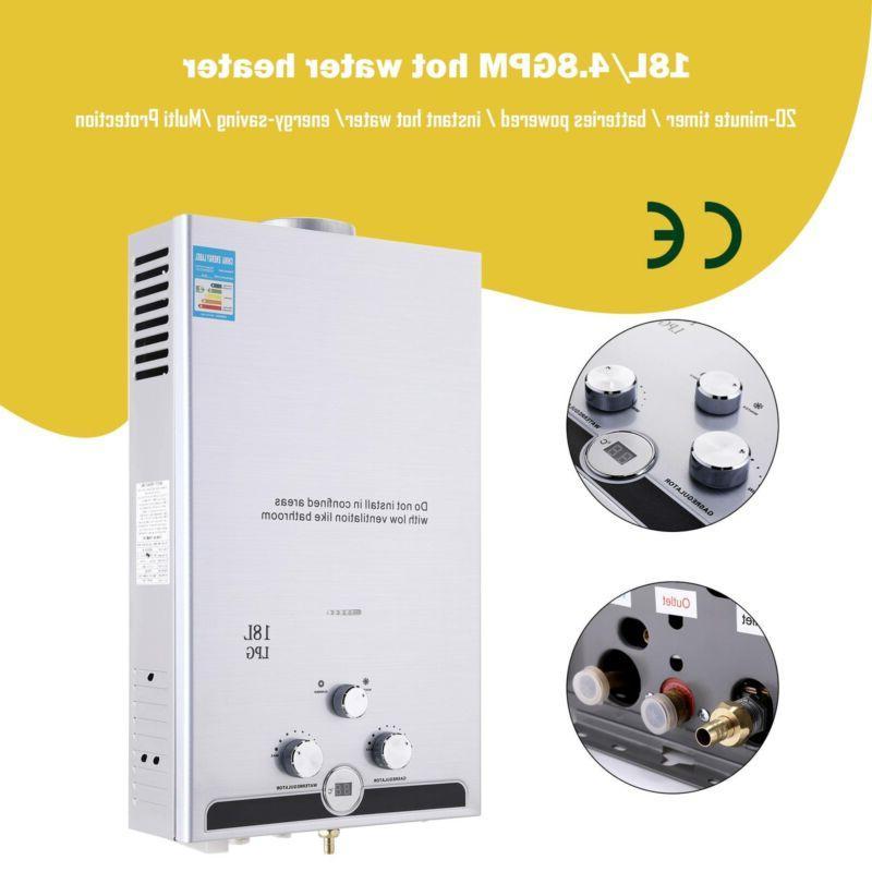 18l 5gpm hot water heater propane gas
