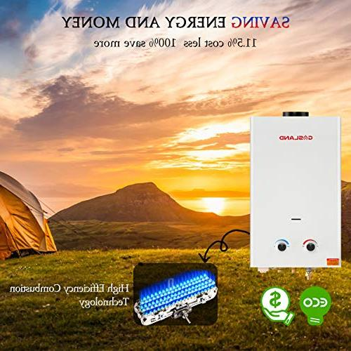 Tankless Heater, BS264 2.64GPM Portable Gas Water Heater, Instant Heater, Overheating Install, Cabin
