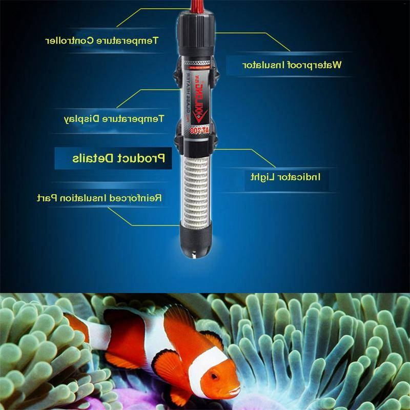25W-300W Submersible Aquarium <font><b>Heater</b></font> Heating <font><b>Glass</b></font> Fish Tank Heating Control